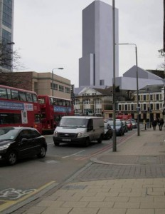 36-storey tower approved by the Conservatives for Wandsworth Town
