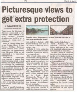 Protected local views: a farce (in the Wandsworth Guardian)