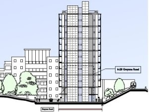 14 storey towers approved near Lombard Road, contrary to planning documents.