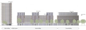 Plans to replace Homebase, Swanden Way, by several residential buildings