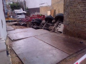Accident happened while developer carried out work without planning consent