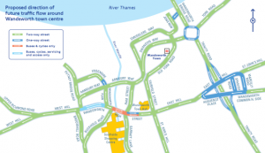 New proposed gyratory system for Wandsworth Town